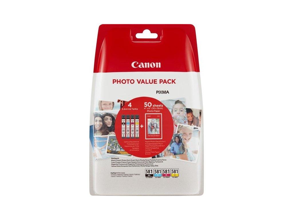 Inkoustová náplň Canon CLI-581 BK/C/M/Y PHOTO VALUE BL originální