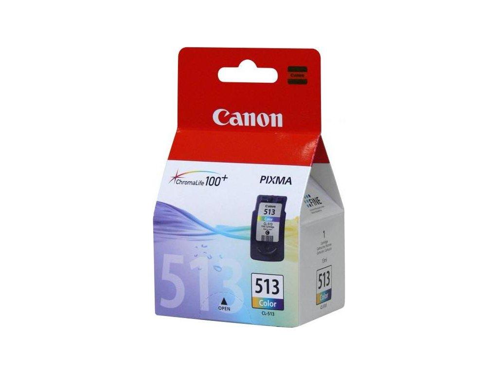 Inkoustová náplň Canon CL-513C, 350 stran originální - CMY