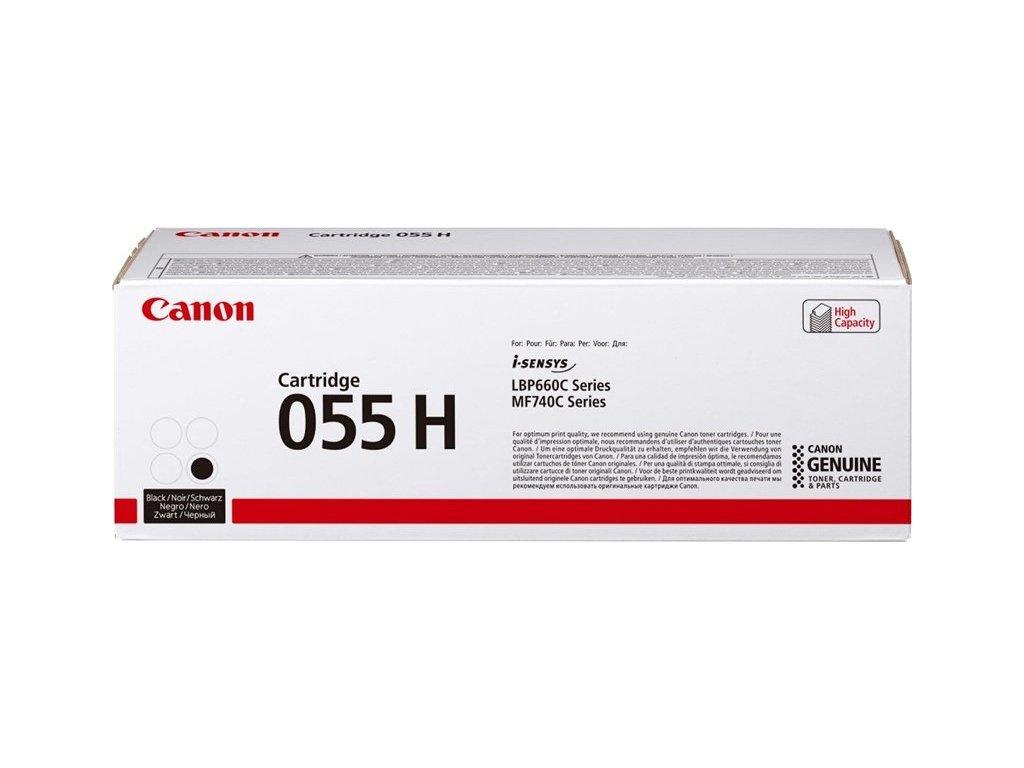 Toner Canon CRG 055 H, 7600 stran originální - černý