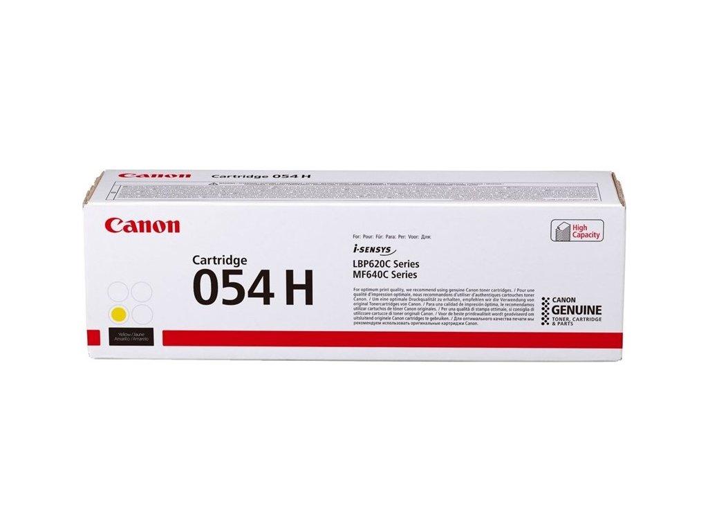 Toner Canon CRG 054 H, 2300 stran originální - žlutý