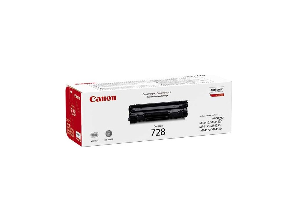 Toner Canon CRG-728, 2100 stran, originální - černá