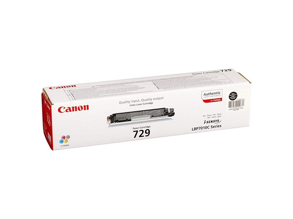 Toner Canon CRG-729Bk, 1200 stran originální - černý