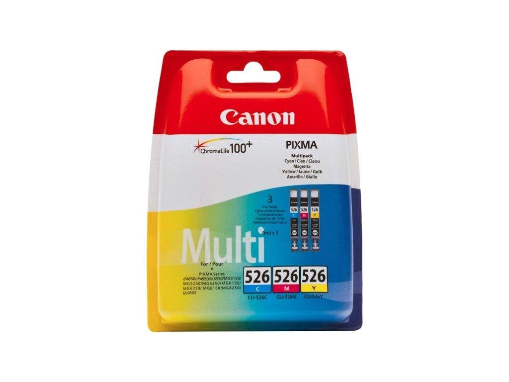 Inkoustová náplň Canon CLI-526 C/M/Y, 340 stran originální - CMY