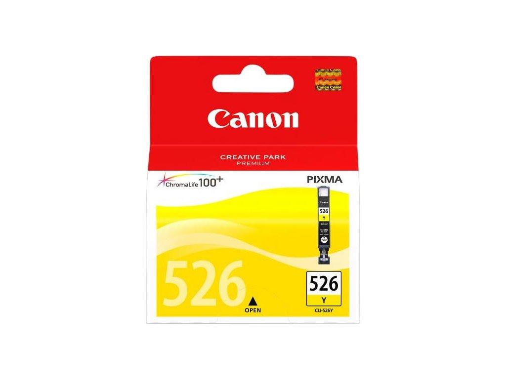 Inkoustová náplň Canon CLI-526Y, 9ml  originální - žlutá