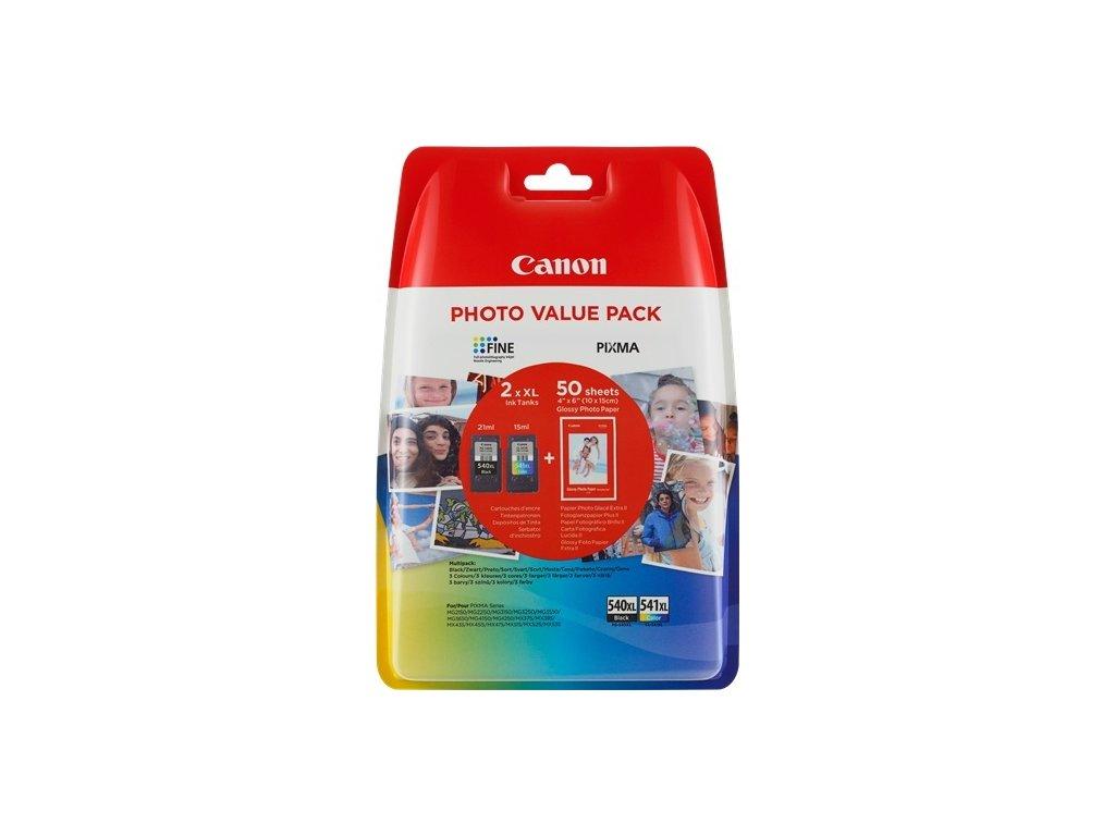 Inkoustová náplň Canon PG-540XL/CL-541XL PHOTO VALUE Pack, 1000 stran, CMYK originální