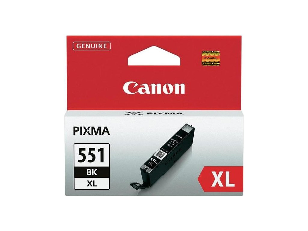 Inkoustová náplň Canon CLI-551XL BK, 4425 stran originální - černá