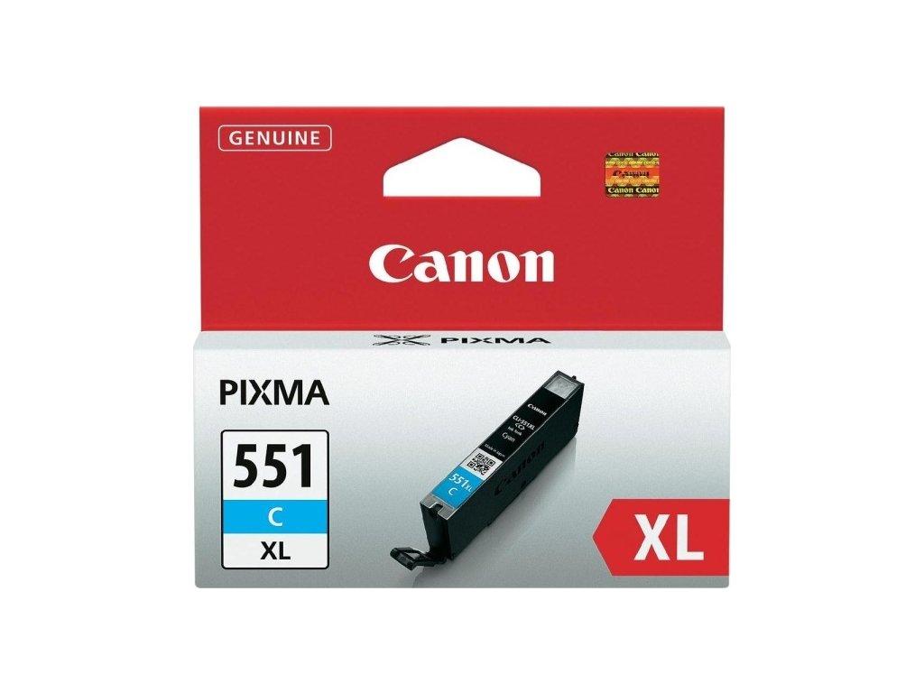 Inkoustová náplň Canon CLI-551XL C, 660 stran originální - modrá