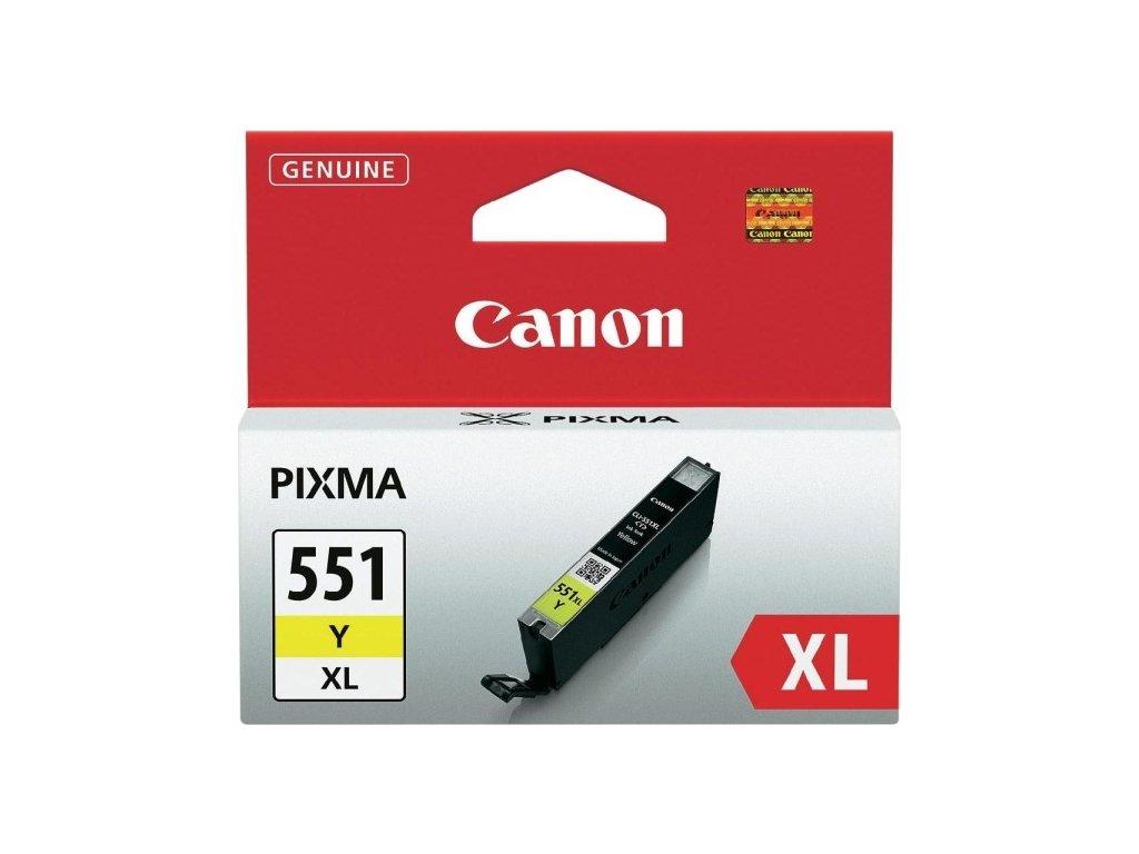 Inkoustová náplň Canon CLI-551XL Y, 685 stran originální - žlutá