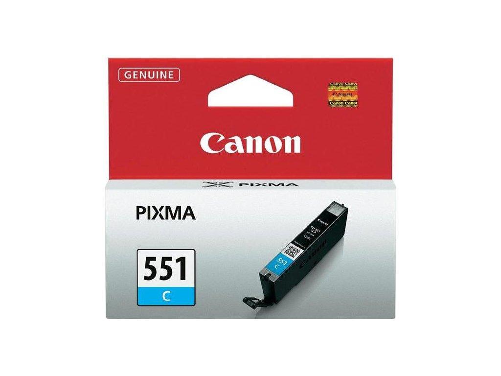 Inkoustová náplň Canon CLI-551 C, 304 stran originální - modrá