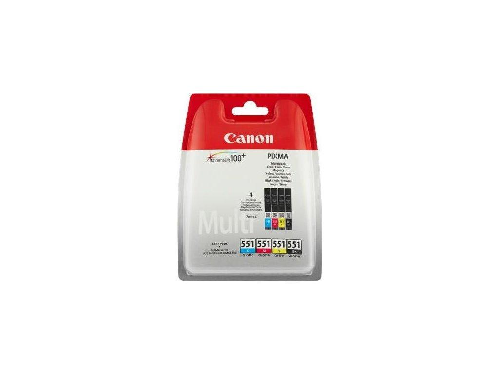 Inkoustová náplň Canon CLI-551, 4x 7ml originální, CMYK