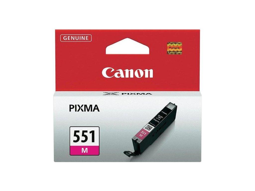 Inkoustová náplň Canon CLI-551 M, 298 stran originální - červená