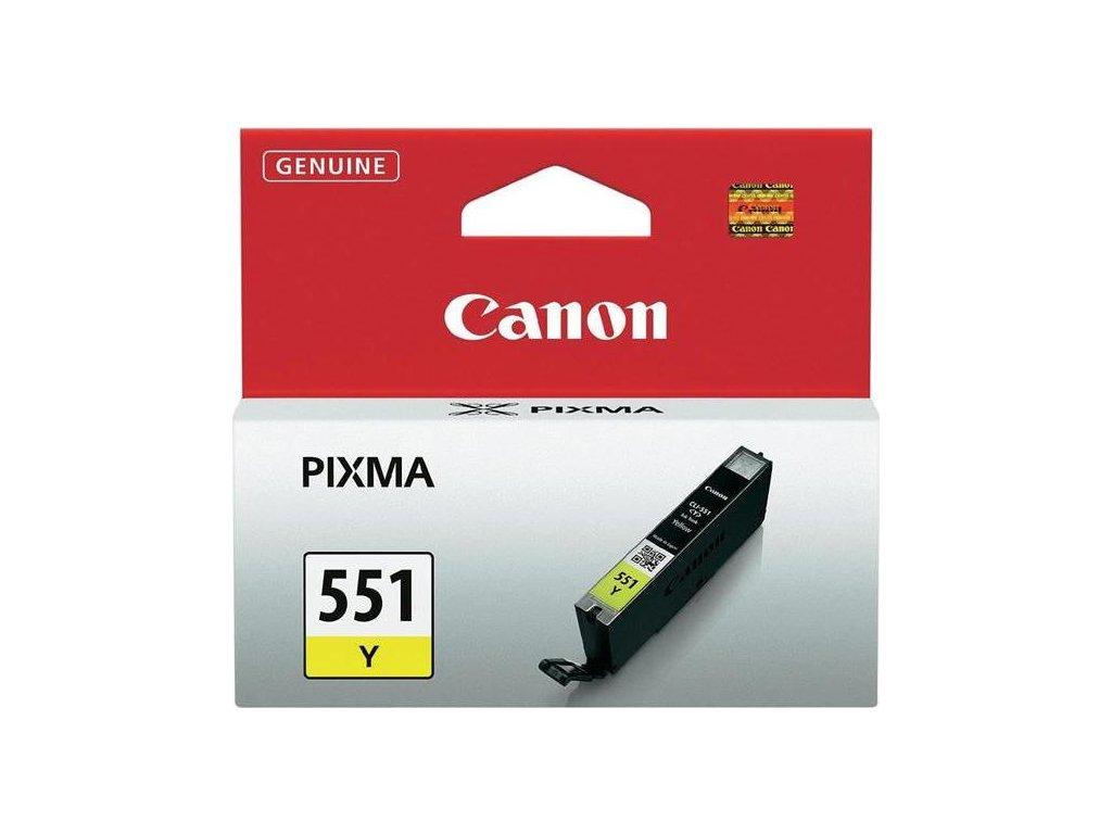 Inkoustová náplň Canon CLI-551 Y, 330 stran originální - žlutá