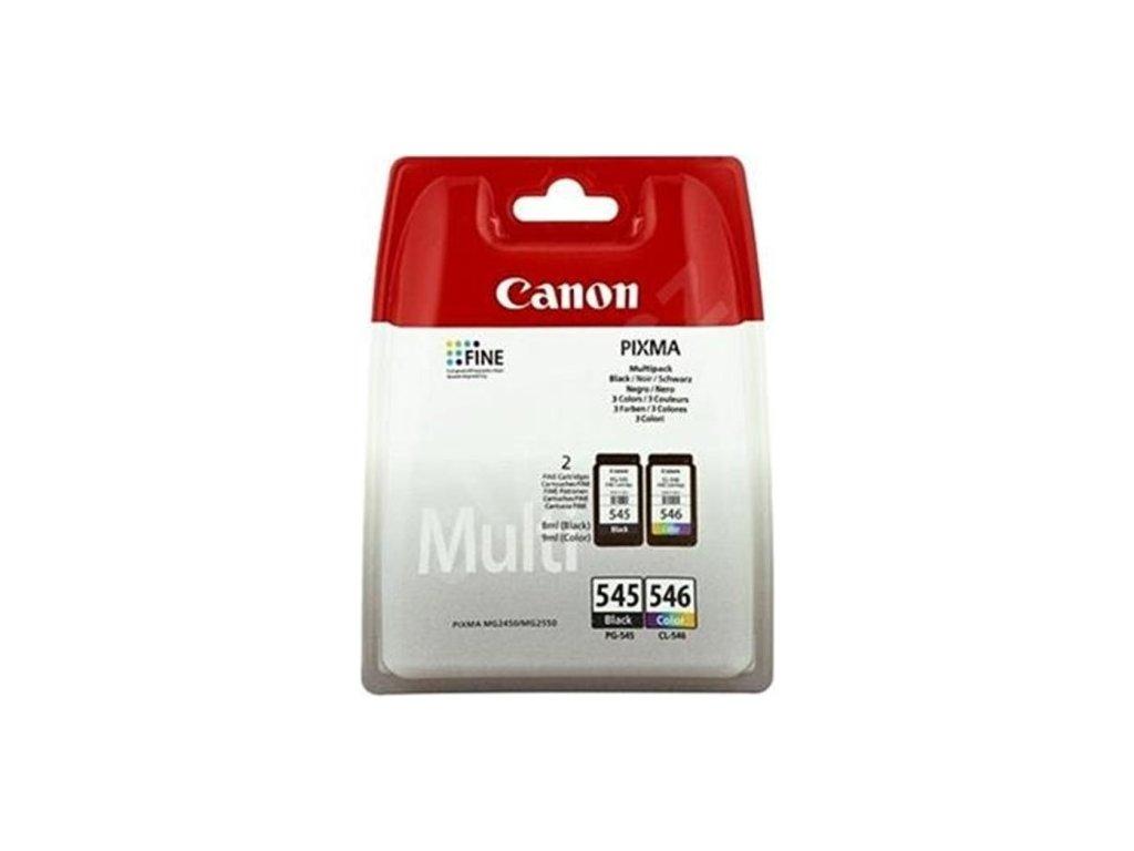 Inkoustová náplň Canon PG-545/CL-546, 180 stran, originální - černá/červená/modrá/žlutá