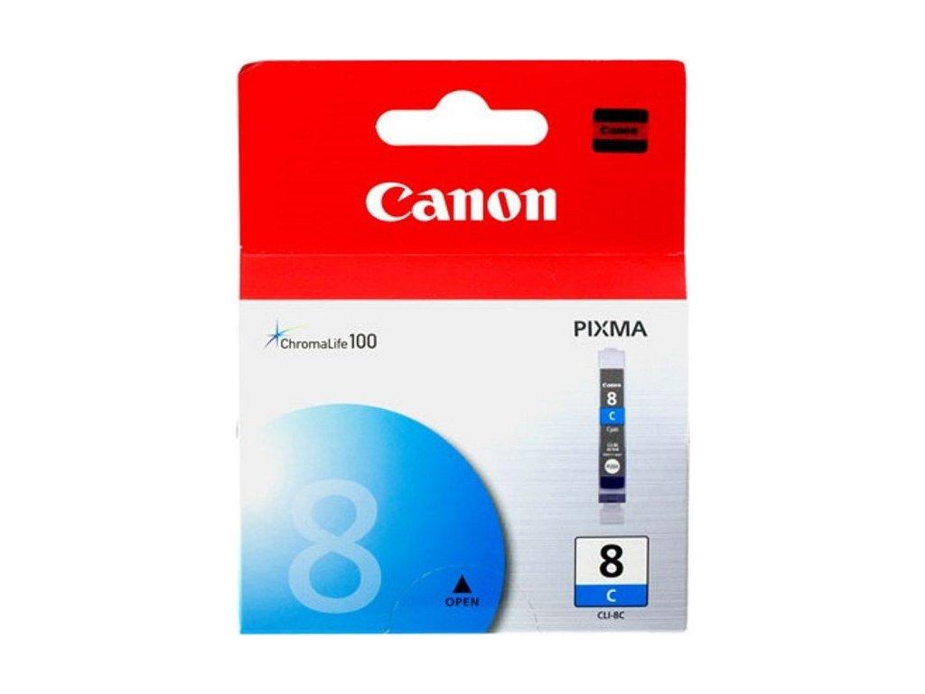Inkoustová náplň Canon CLI-8C, 420 stran originální - modrá