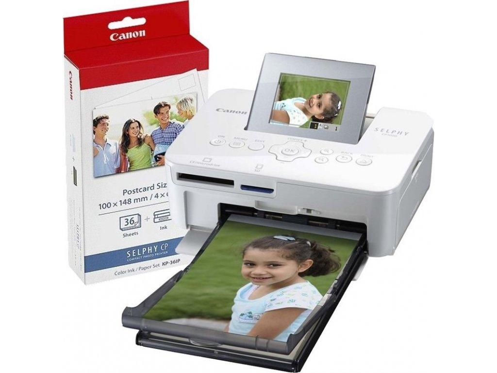 Fototiskárna Canon CP1000 Selphy + papíry KP-36, bílá