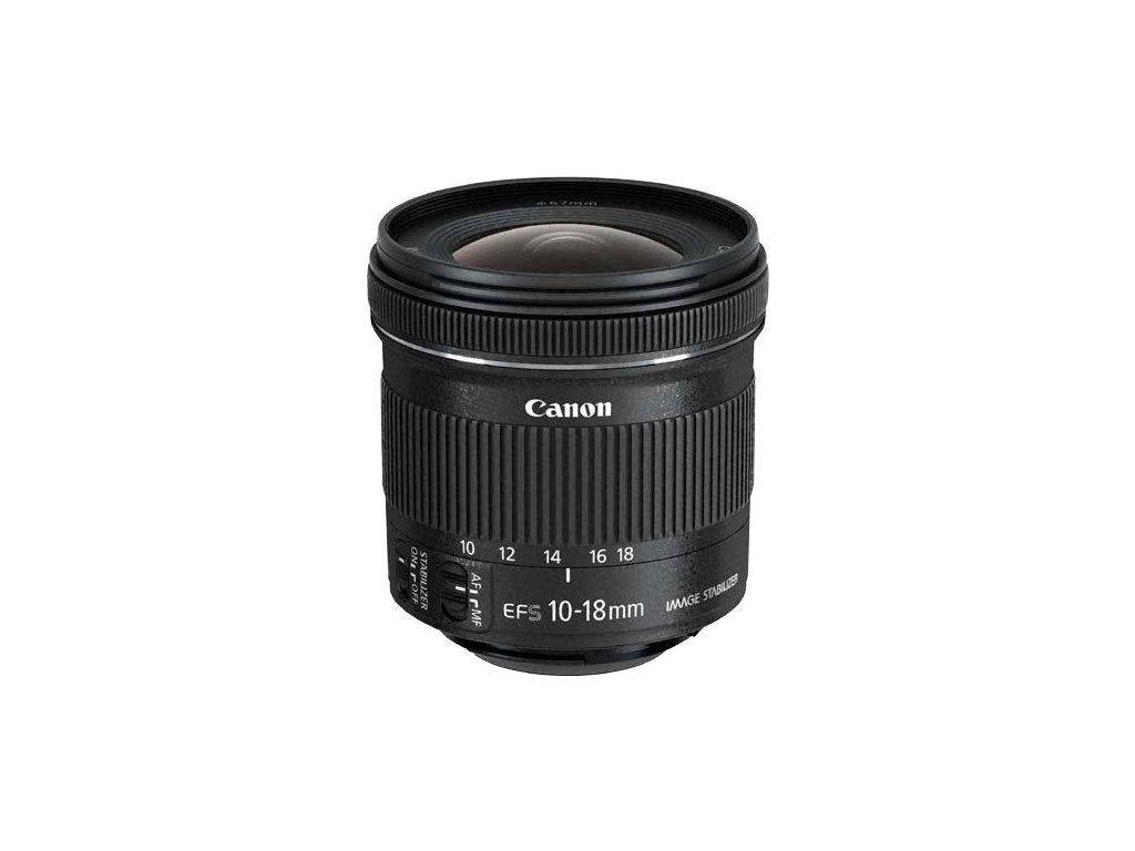 Objektiv Canon EF-S 10-18 mm f/4.5-5,6 IS STM + slun.clona EW73C + LC kit (hadřík na čištění)