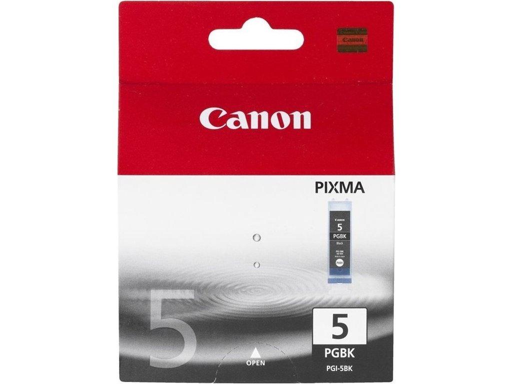 Inkoustová náplň Canon PGI-5Bk, 340 stran originální - černá