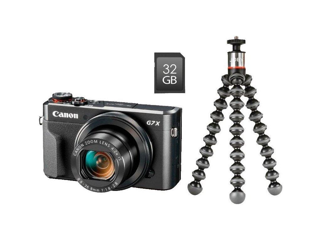 Fotoaparát Canon PowerShot G7 X Mark II + dárek