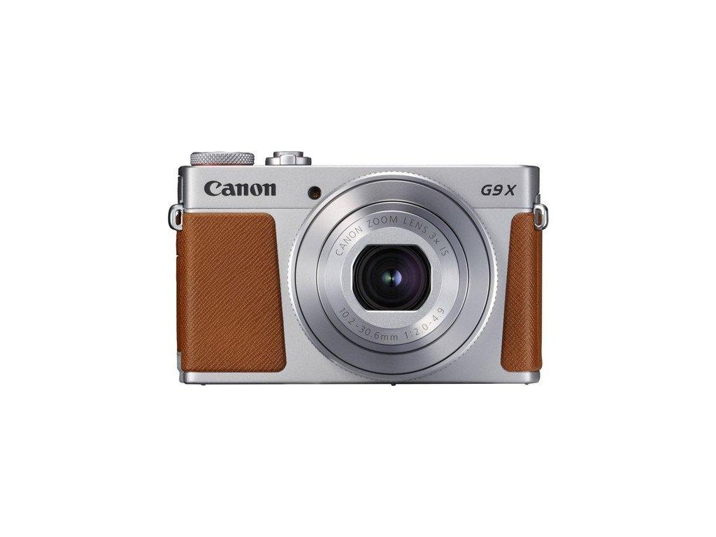 Fotoaparát Canon PowerShot G9 X Mark II, stříbrný