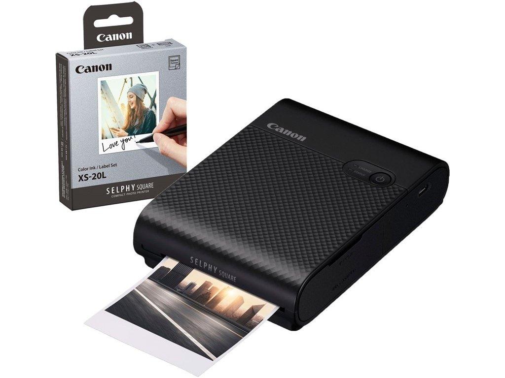 Fototiskárna Canon Selphy Square QX10 + papíry 20ks, černá