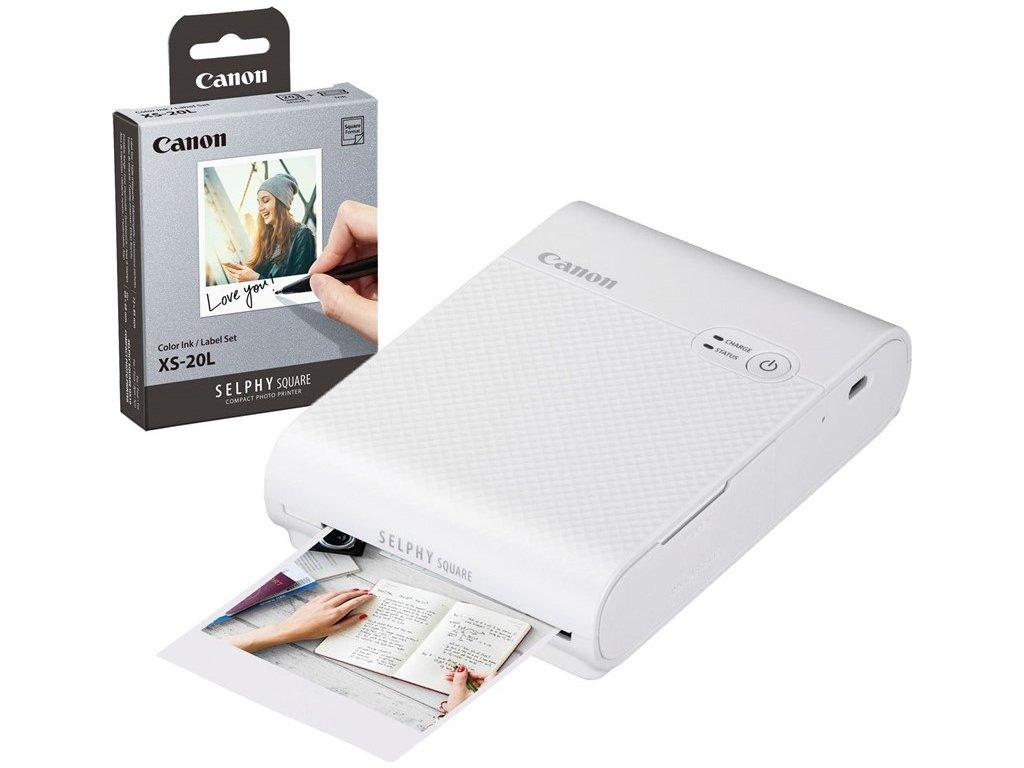 Fototiskárna Canon Selphy Square QX10 + papíry 20ks, bílá