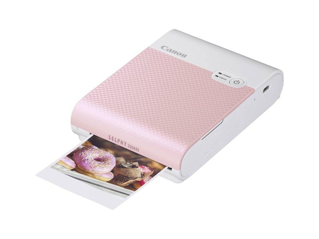 Fototiskárna Canon Selphy Square QX10, růžová