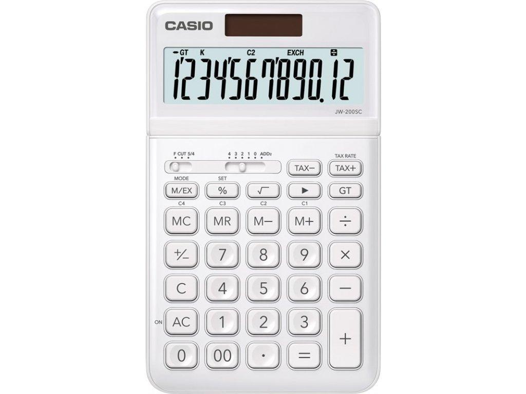 Kalkulačka Casio JW 200 SC WE - bílá