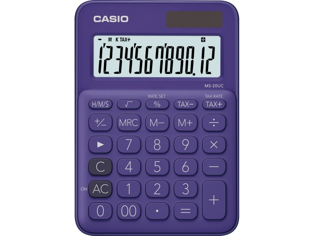Kalkulačka Casio MS 20 UC PL - fialová