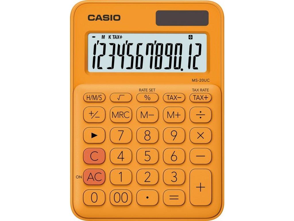 Kalkulačka Casio MS 20 UC RG - oranžová