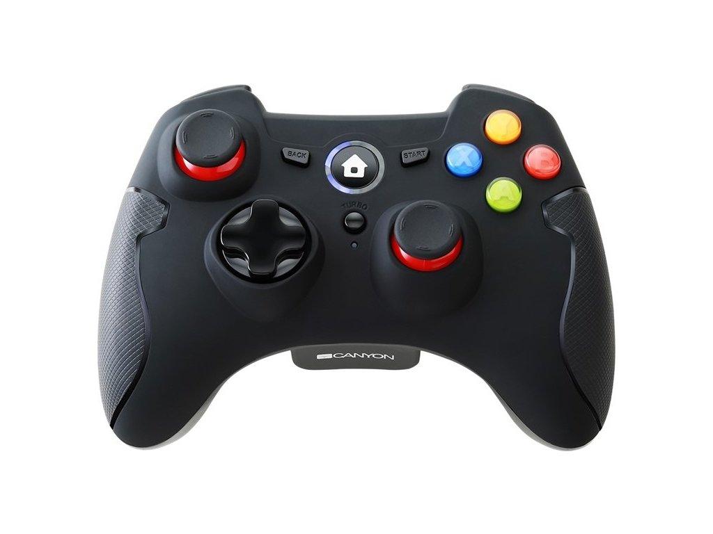 Gamepad Canyon CND-GPW6 pro PC, PS3, Android - černý