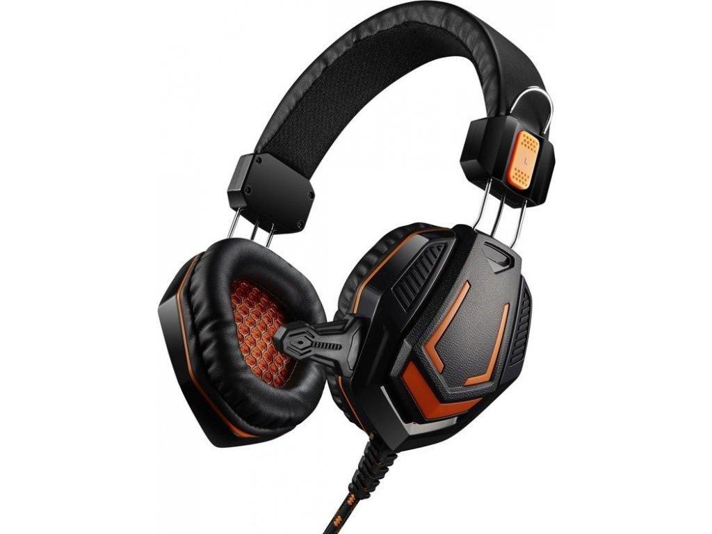 Headset Canyon CND-SGHS3A - černý/oranžový