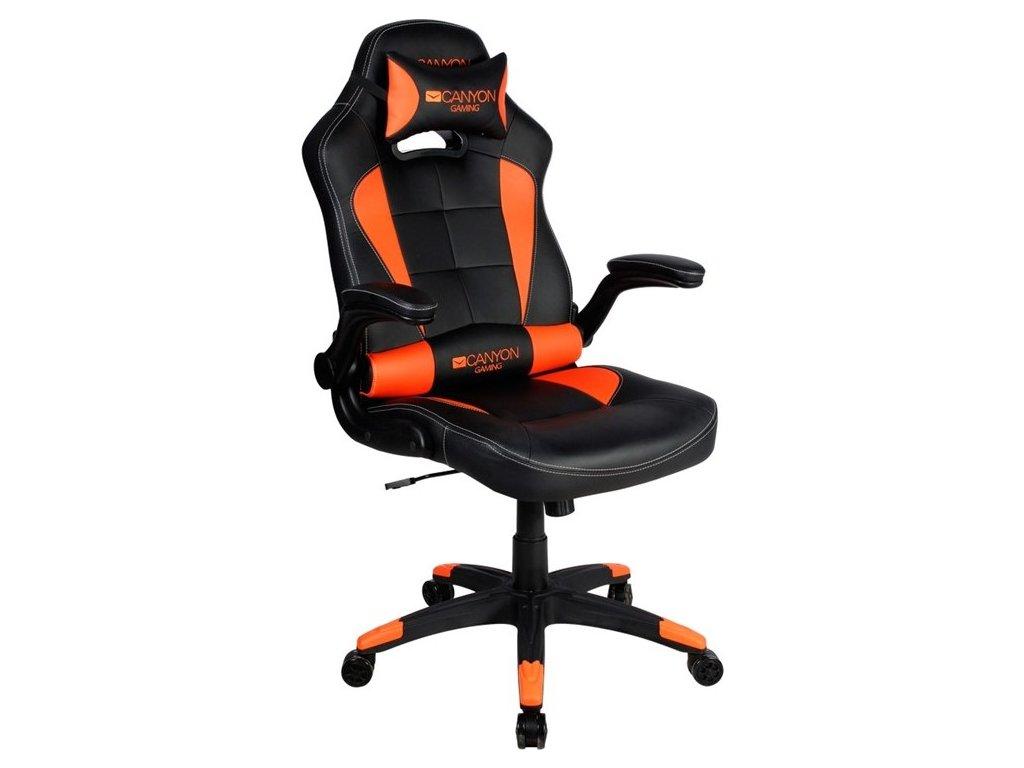 Herní židle Canyon Virgil - černá/oranžová