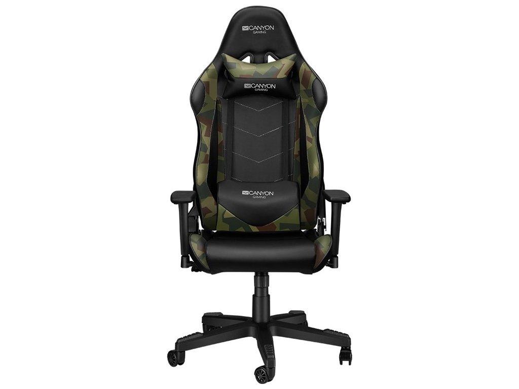 Herní židle Canyon Argama - černá/zelená