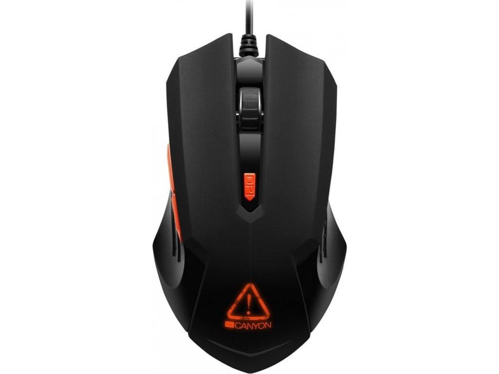 Myš Canyon Star Raider / optická/ 6 tlačítka / 3200DPI - černá