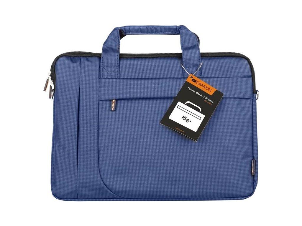 Brašna na notebook Canyon Fashion toploader - modrá