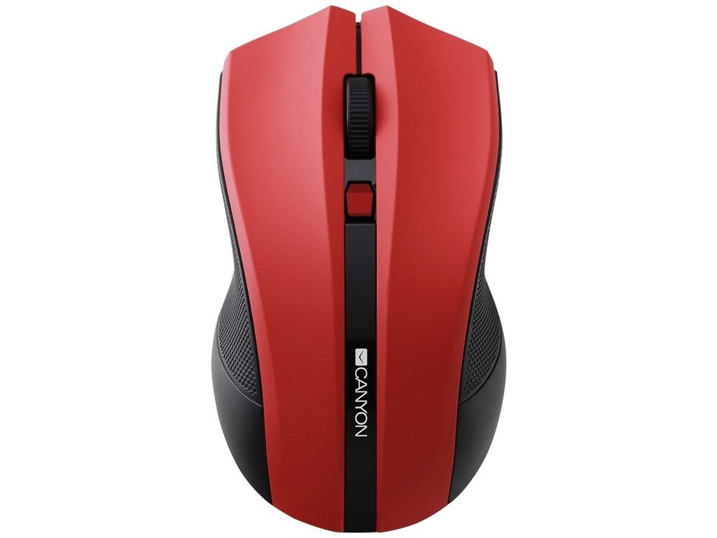 Myš Canyon CMSW05 / optická / 4 tlačítka / 1600dpi - červená