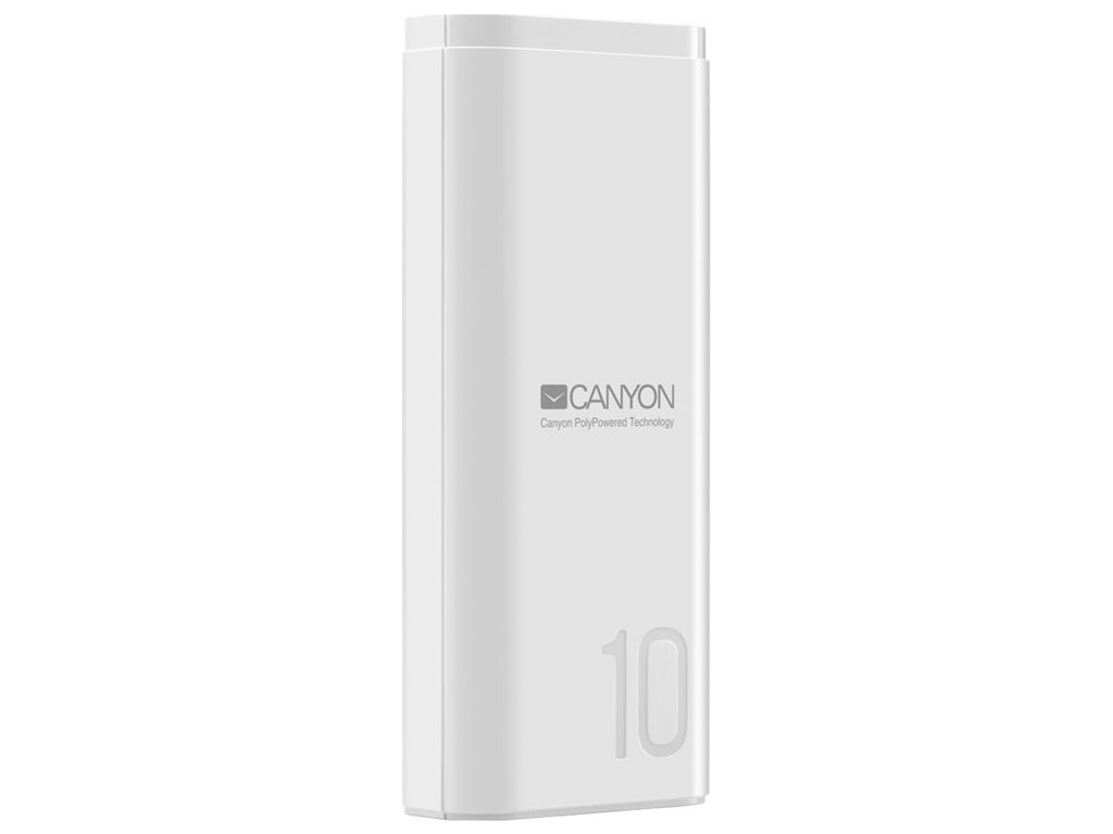 Powerbank Canyon 10000 mAh. USB-C - bílá