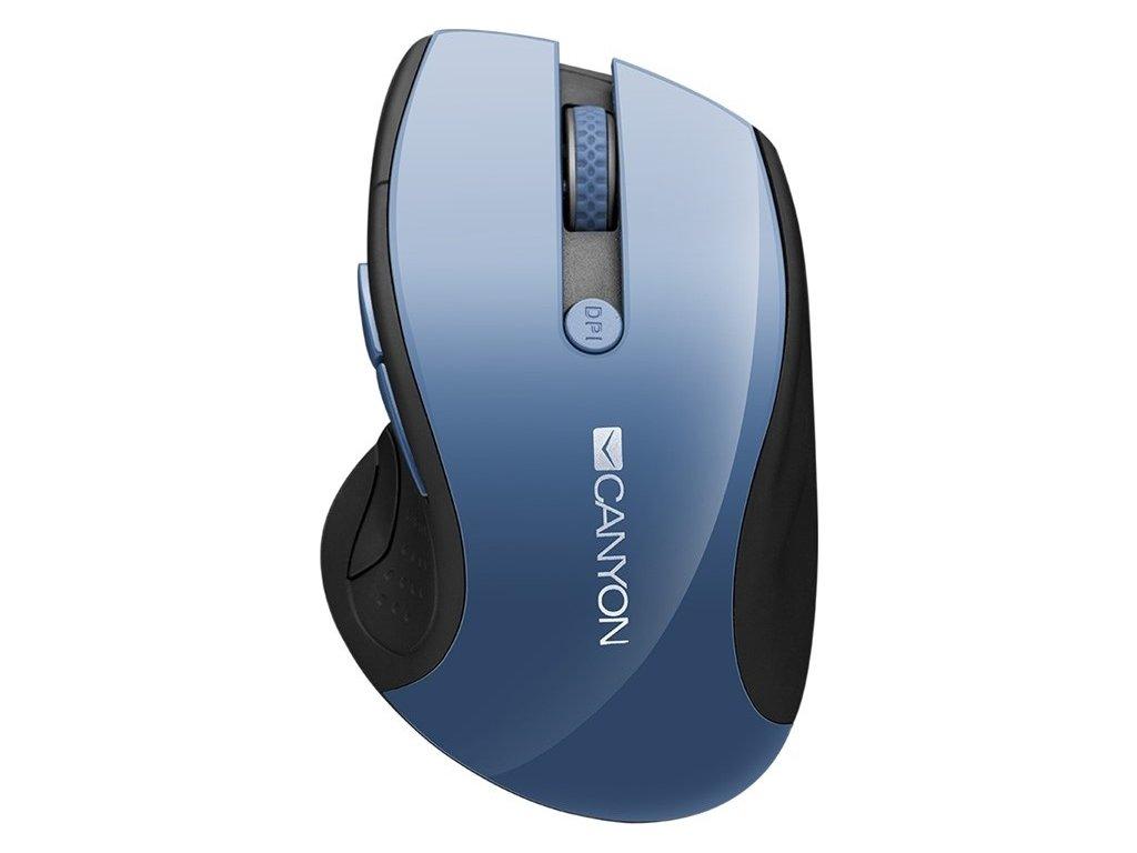 Myš Canyon CMSW01 / optická / 6 tlačítek / 1600dpi - modrá