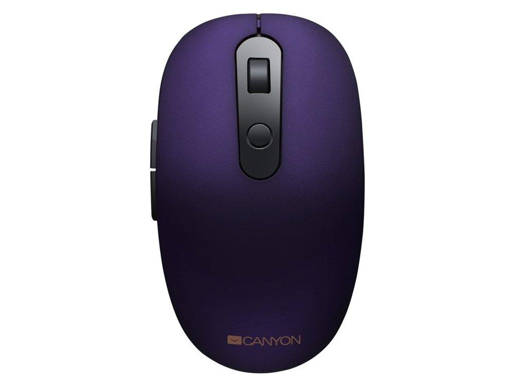 Myš Canyon CNS-CMSW09V / optická / 6 tlačítek / 1500dpi - fialová