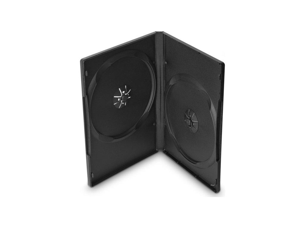 Obal Cover IT pro 2 DVD, 14mm - černý (10ks/bal)