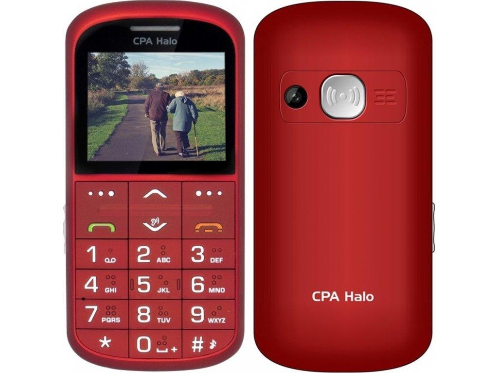 Mobilní telefon CPA Halo Halo 11 Pro Senior s nabíjecím stojánkem - červený