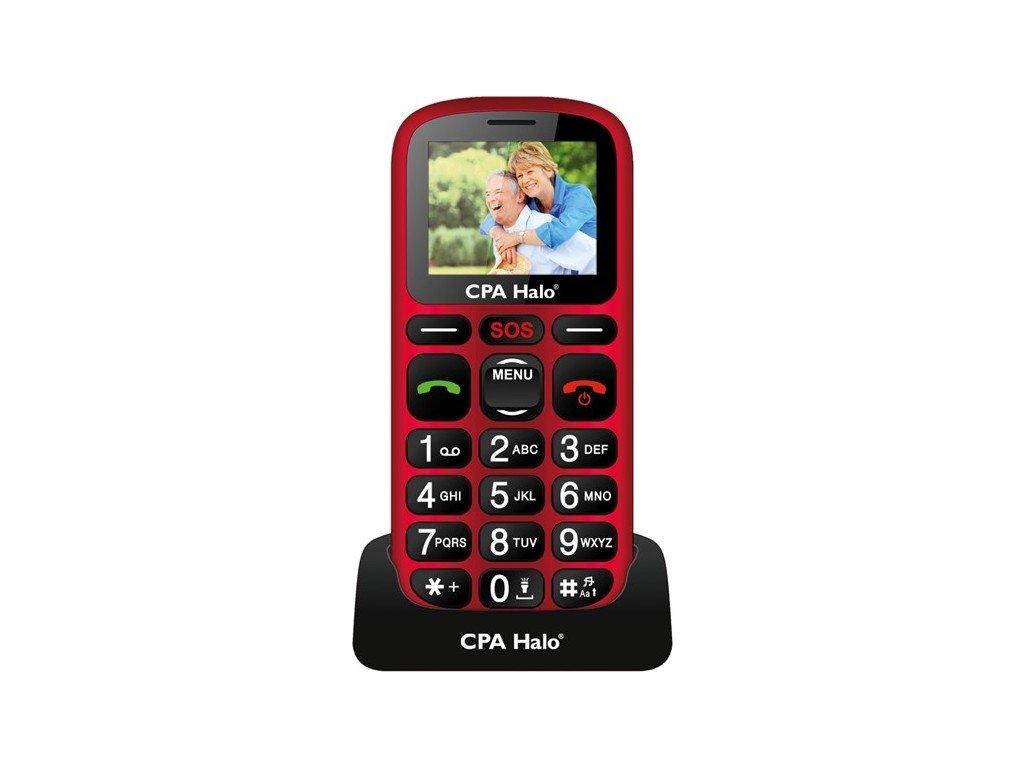 Mobilní telefon CPA Halo 16 Senior - červený