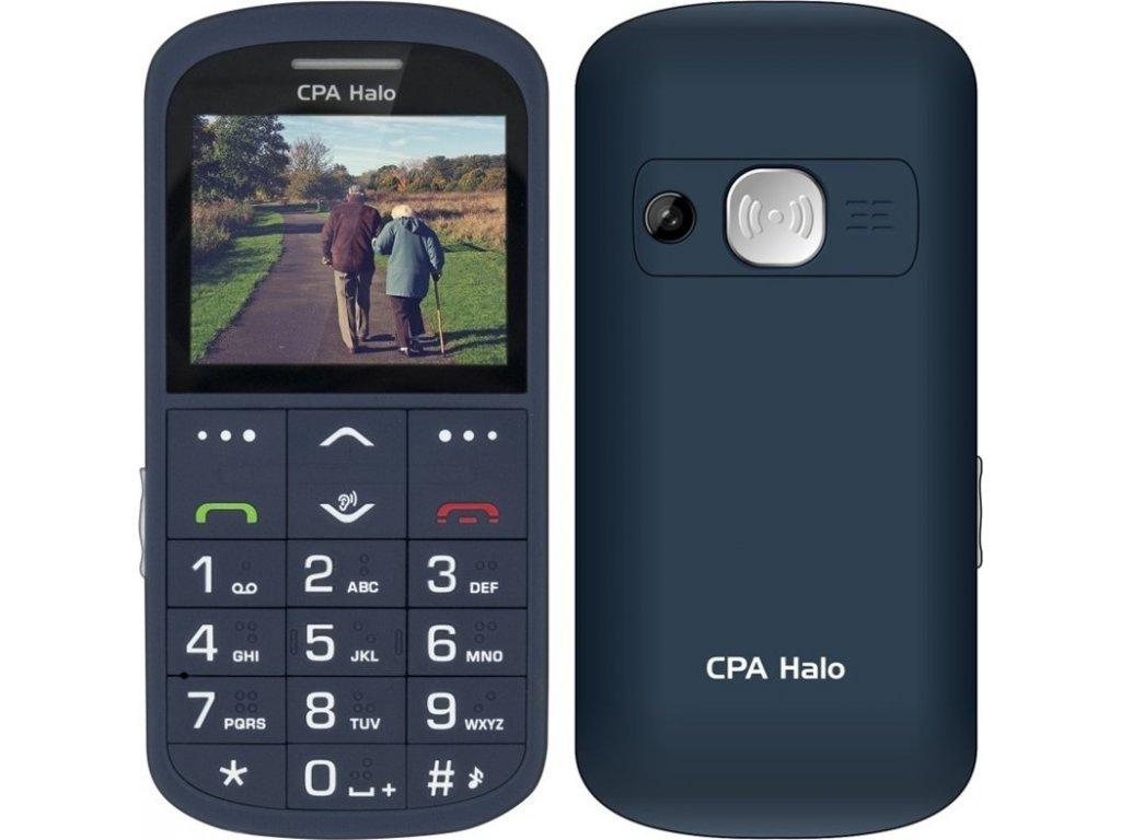 Mobilní telefon CPA Halo Halo 11 Pro Senior s nabíjecím stojánkem - modrý