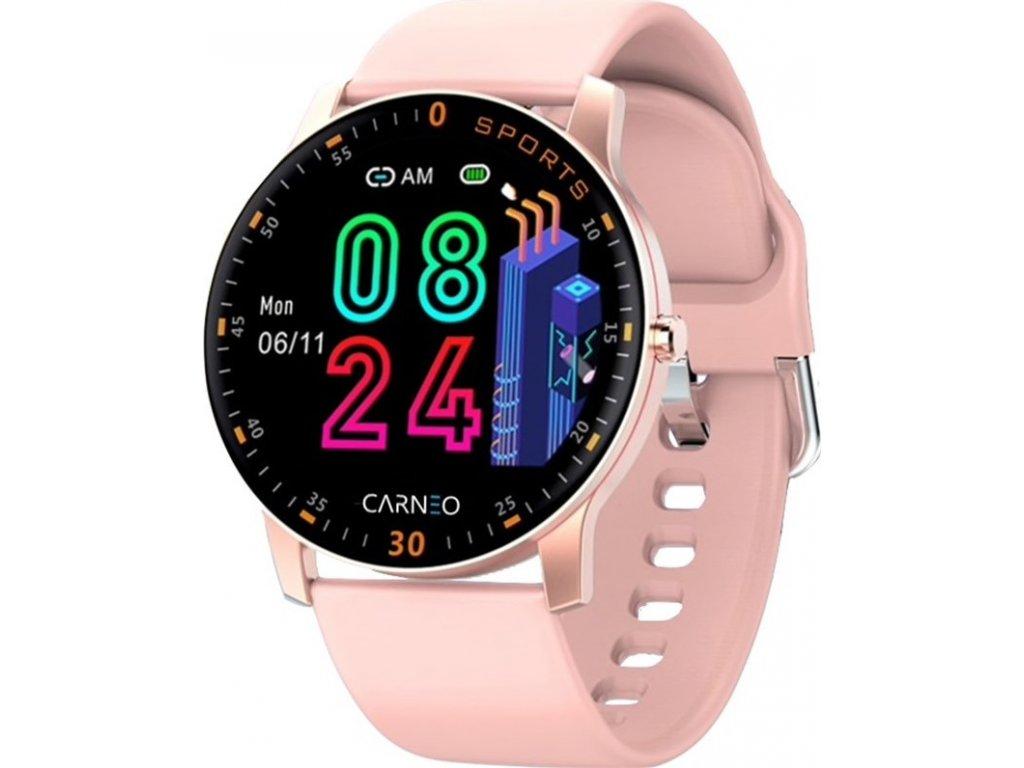 Chytré hodinky Carneo Gear+ platinum woman - růžová