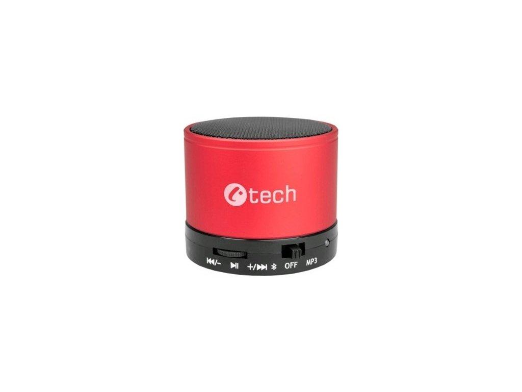 Přenosný reproduktor C-TECH SPK-04R, červený