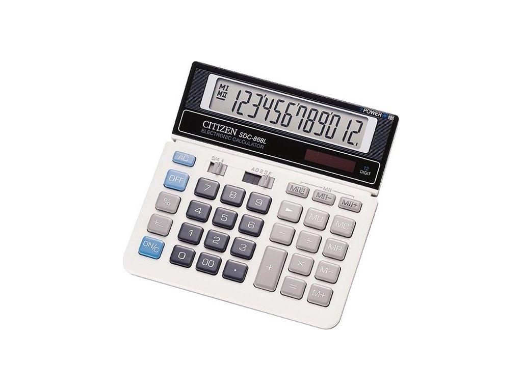 Kalkulačka Citizen SDC-868L - černá/bílá
