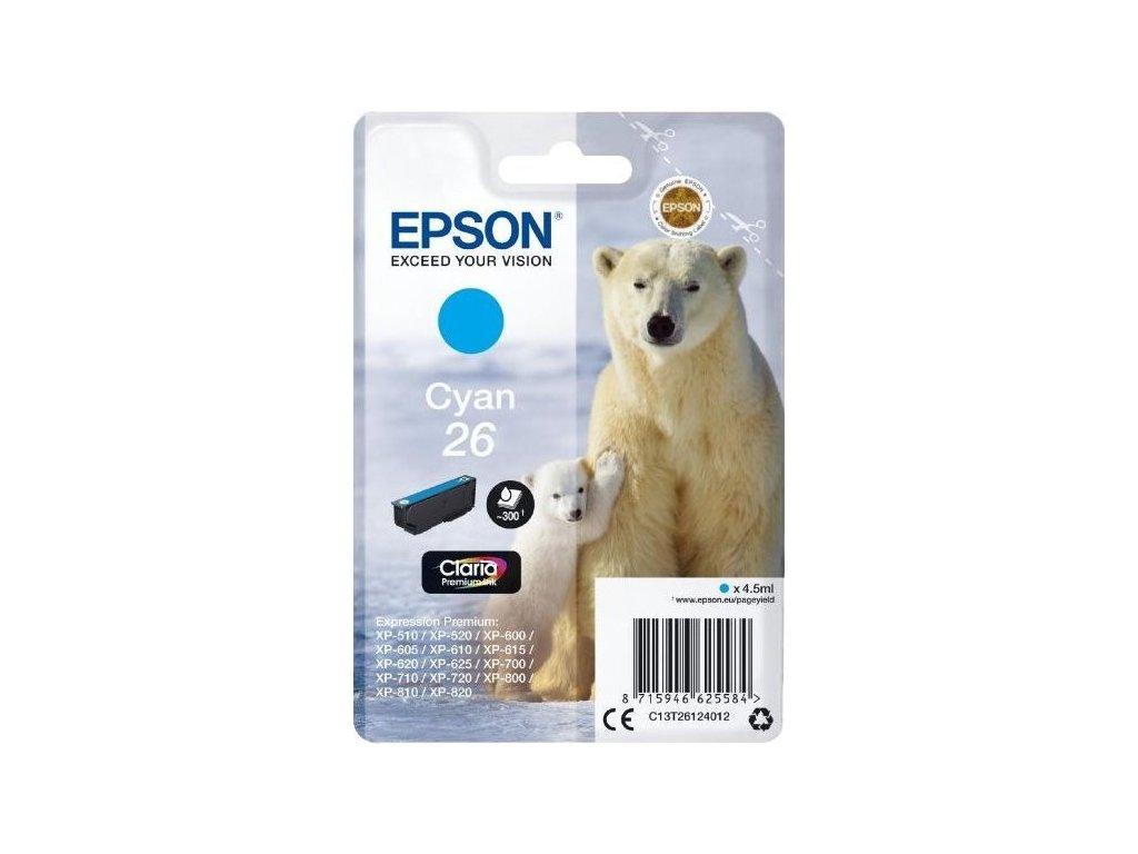 Inkoustová náplň Epson T2612, 26 Claria Premium Ink, originální - modrá