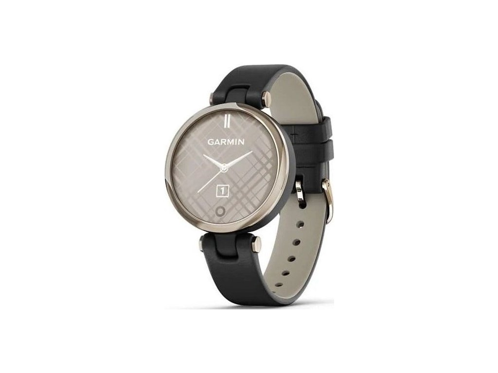 Chytré hodinky Garmin Lily Classic Cream Gold/Black Leather Band