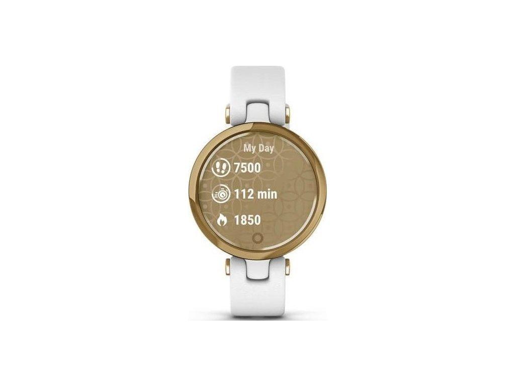 Chytré hodinky Garmin Lily Classic Light Gold/White Leather Band