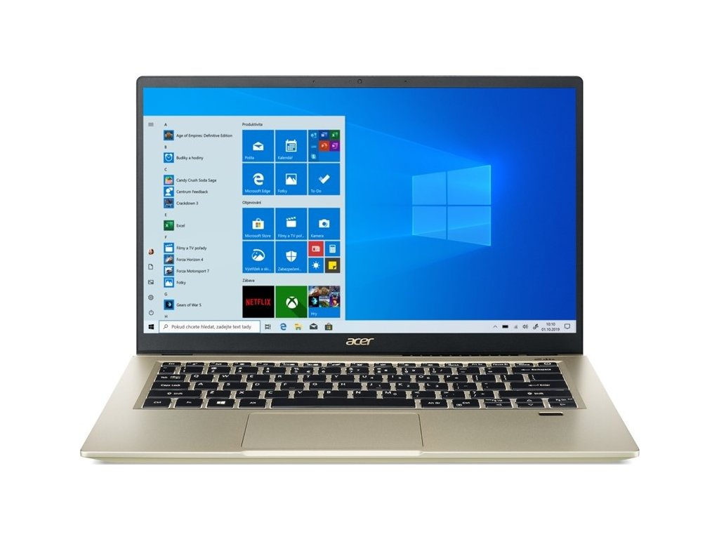 "Ntb Acer Swift 3X (SF314-510G-573B) i5-1135G7, 16GB, 512GB, 14"", Full HD, bez mechaniky, Intel Iris Xe Max, 4GB, BT, FPR, CAM, W10 Home  - zlatý"